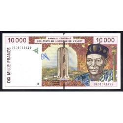 Западные Африканские Штаты (Бенин) 10000 франков ND (1992 - 2001) год (West African States (Benin) 10000 francs ND (1992 - 2001g.) P213b:Unc
