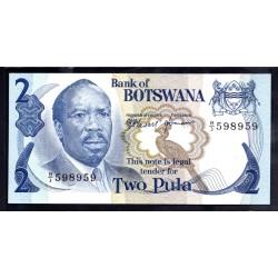 Ботсвана 2 пулы ND (1976 год) (Botswana 2 pula ND(1976g.)) P2a:Unc