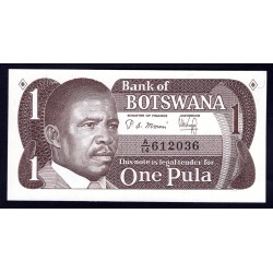 Ботсвана 1 пула ND (1982 - 83 год) (Botswana 1 pula ND(1982 - 83g.)) P6:Unc