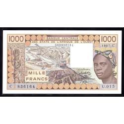 Западные Африканские Штаты (Буркина Фасо) 1000 франков ND (1987 г.) (Western African States (Burkina Faso) 1000 francs ND (1987g.))  P307h:Unc
