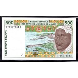 Западные Африканские Штаты (Буркина Фасо) 500 франков ND (1991 - 2002 г.г) (Western African States (Burkina Faso) 500 francs ND (1991 - 2002g.))  P310c:Unc