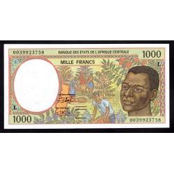 Габон 1000 франков ND (1993 - 2000 г.) (Gabonaise 1000 francs ND (1993 - 2000g.)) P402L:Unc