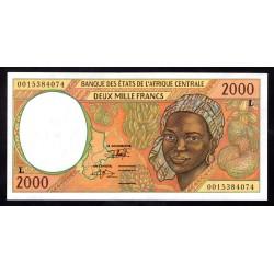 Габон 2000 франков ND (1993 - 2000 г.г.) (Gabonaise 2000 francs ND (1993 - 2000g.)) P403Lg:Unc