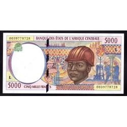 Габон 5000  франков ND (1994 - 2000 г.г.) (Gabonaise 5000 francs ND (1994 - 2000g.) )P404L:Unc