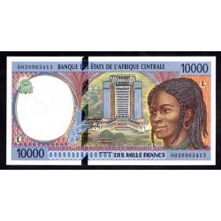 Габон 10000 франков ND (1994 - 2000 г.г.) (Gabonaise 10000 francs ND (1994 - 2000g.)) P405L:Unc