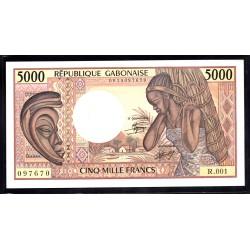 Габон 5000 франков ND (1984 - 1991 г.г.) (Gabonaise 5000 francs ND (1984 - 1991g.)) P6a:Unc
