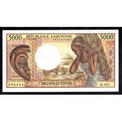Габон 5000 франков ND (1984 - 1991 г.г.) (Gabonaise 5000 francs ND (1984 - 1991g.)) P6b:Unc