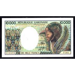 Габон 10000 франков ND (1983 - 1991 г.г.) (Gabonaise 10000 francs ND (1983 - 91g.)) P7a:Unc