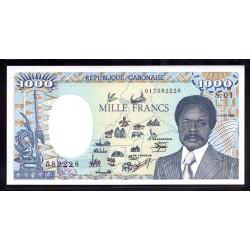 Габон 1000 франков 1985 год (Gabonaise 1000 francs 1985g.) P9:Unc