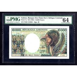 Габон 10000 франков ND (1984 год) (Gabonaise 10000 francs ND (1984g.)) P7a PMG64