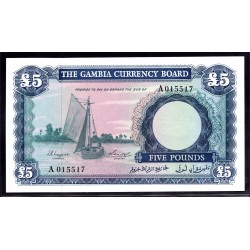 Гамбия 5 фунтов ND (1965 - 70 г.г.) (Gambia 5 pounds ND (1965 -70g.)) P3:Unc