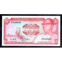 Гамбия 5 даласи ND (1972 - 86 г.г.) (Gambia 5 dalasis ND (1972 - 86g.)) P5d:Unc