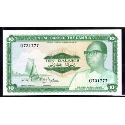 Гамбия 10 даласи ND (1972 - 86 г.г.) (Gambia 10 dalasis ND (1972 - 86g.)) P6c:Unc