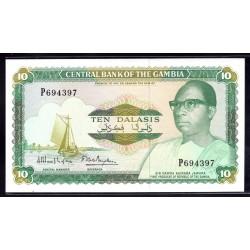 Гамбия 10 даласи ND (1987 - 90 г.г.) (Gambia 10 dalasis ND (1987 - 90g.)) P10a:Unc