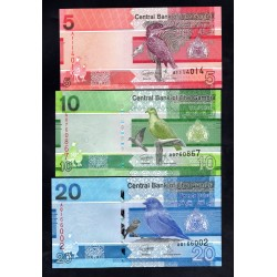 Гамбия набор из 6-ти банкнот 2019 год (Gambia nabor 6 banknot 2019g.) Unc