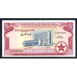 Гана 1 фунт 1962 год (Ghana 1 pound 1962 g.) P2d:Unc