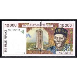 Западные Африканские Штаты (Гвинея - Биссау) 10000 франков ND (1997 года) (West African States (GUINE-BISSAU) 10000 francs ND (1997 g.)) P914S:Unc
