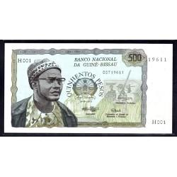Гвинея - Биссау 500 песо 1975 год (GUINE-BISSAU 500 pesos 1975 g.) P3:Unc