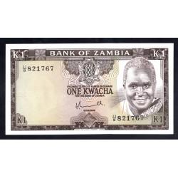 Замбия 1 квача ND (1976)  (ZAMBIA 1 kwacha ND (1976)) Р19:Unc