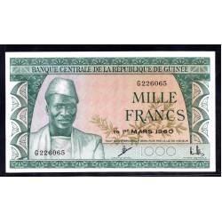 Гвинея 1000 франков 1960 год (GUINEE 1000 francs 1960 g.) P15:Unc