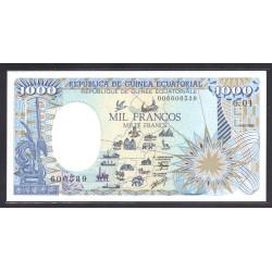 Гвинея Экваториальная 1000 франков 1985 год (GUINEA ECUATORIAL 1000 francos 1985 g.) P21:Unc