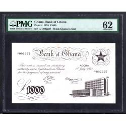 Гана 1000 фунтов 1958 год (Ghana 1000 pounds 1958 g.) P4:Слаб