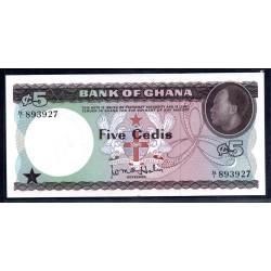 Гана 5 седи ND (1965 год) (Ghana  5 cedis ND (1965 g.)) P6a:Unc