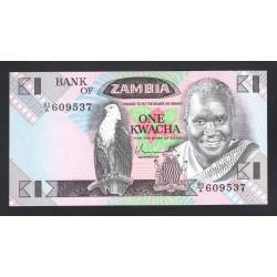 Замбия 1 квача ND (1980 - 1988 год) (ZAMBIA 1 kwacha ND (1980 - 1988 g.)) P23a:Unc