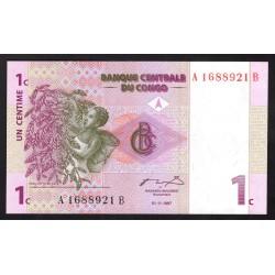 Конго 1 сантим 1997 год (CONGO  1 centime 1997 g.) P80a:Unc