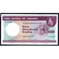 Гана 100 седи ND (1965 год) (Ghana 100 cedis ND (1965 g.)) P9a:Unc