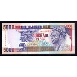 Гвинея - Биссау 5000 песо 1993 год (GUINE-BISSAU 5000 pesos 1993 g.) P14b:Unc