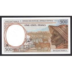 Центральные Африканские Государства (Экваториальная Гвинея) 500 франков ND (2000 года) (Central African States (Equatorial Guinea) 500 francs ND (2000 g.)) P501N:Unc