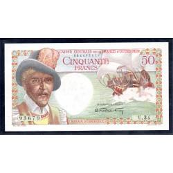 Экваториальная Африка 50 франков ND (1947 год) (Equatorial Africa 50 francs ND (1947 g.)) P23:Unc