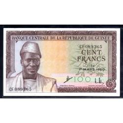 Гвинея 100 франков 1960 год (GUINEE 100 francs 1960 g.) P13:Unc