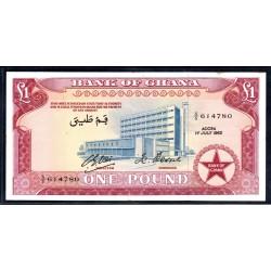 Гана 1 фунт 1962 год (Ghana 1 pound 1962 g.) P2d:aUnc