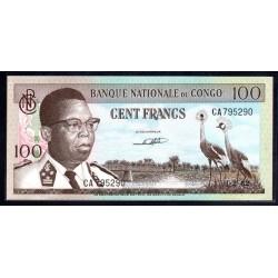 Конго 100 франков 1962 год (CONGO  100 francs 1962g.) P6а:Unc