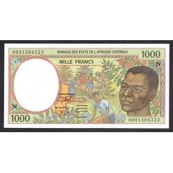 Центральные Африканские Государства (Экваториальная Гвинея) 1000 франков ND (2000 года) (Central African States (Equatorial Guinea) 1000 francs ND (2000 g.)) P502Nh:Unc