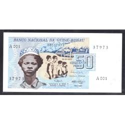 Гвинея - Биссау 50 песо 1975 год (GUINE-BISSAU 50 pesos 1975g.) P1:Unc