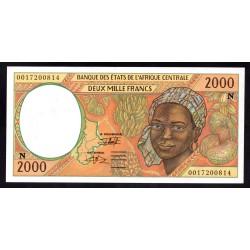 Центральные Африканские Государства (Экваториальная Гвинея) 2000 франков ND (2000 года) (Central African States (Equatorial Guinea) 2000 francs ND (2000 g.)) P503Ng:Unc