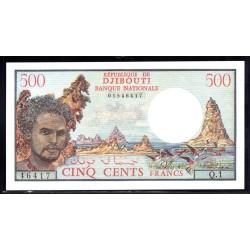 Джибути 500 франков ND (1988 год) (Djibouti 500 francs ND (1988 g.) P36b:Unc