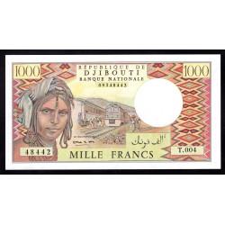 Джибути 1000 франков ND (1979 год) (Djibouti 1000 francs ND (1979 g.) P37a:Unc