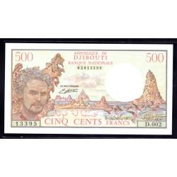 Джибути 500 франков ND (1988 год) (Djibouti 500 francs ND (1988 g.) P36a:Unc
