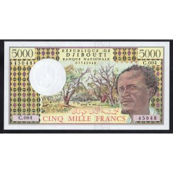 Джибути 5000 франков ND (1979 год) (Djibouti 5000 francs ND (1979 g.)) P38d:Unc