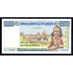 Джибути 2000 франков ND (2005 год) (Djibouti 2000 francs ND (2005 g.)) P43:Unc