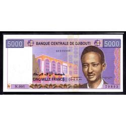 Джибути 5000 франков 1961 год (Djibouti 5000 francs 1961 g.) P44:Unc