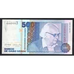 Кабо Верде 500 эскудо 2002 год (CABO VERDE 500 escudos 2002 g.) P64b:Unc