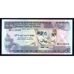 Эфиопия 50 бирр ND (1991 год) (ETHIOPIAN 50 birr ND (1991 g.) P44c:Unc