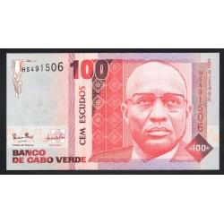 Кабо Верде 100 эскудо 1989 год (CABO VERDE 100 escudos 1989g.) P57a:Unc
