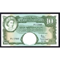 Британская Восточная Африка 10 шиллингов ND (1958-60 год) (EASTAFRICAN CURRENCY BOARD 10 shillings ND(1958-60 g.)) P38:Unc