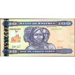 Эритрия 100 накфа 2004 год (ERITREA 100 nakfa 2004 g.) P8:Unc